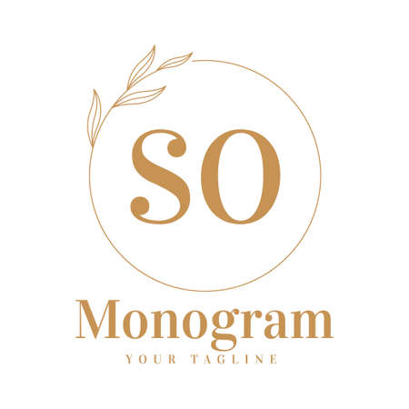 SO Initial A Logo Design with Feminine Style