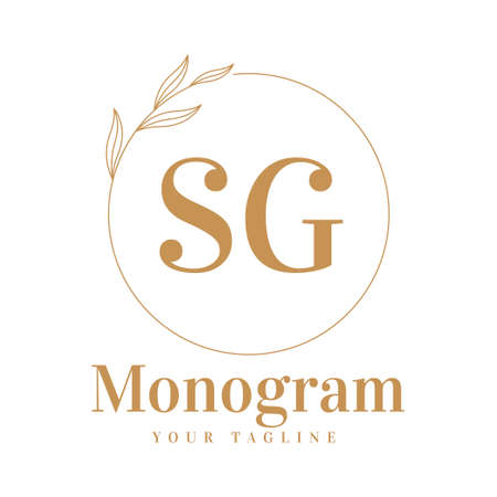 SG Initial A Logo Design with Feminine Style