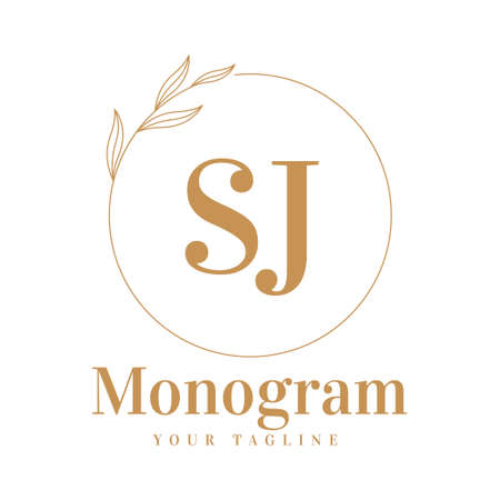 SJ Initial A Logo Design with Feminine Style