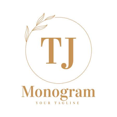 TJ Initial A Logo Design with Feminine Style