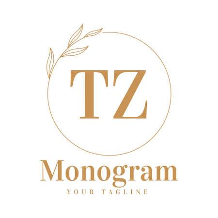 TZ Initial A Logo Design with Feminine Style Logó