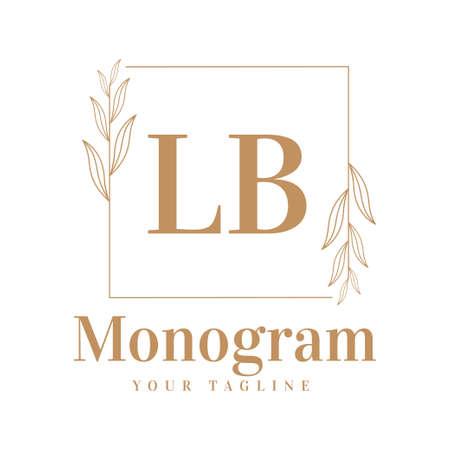 LB Initial A Logo Design with Feminine Style Logó