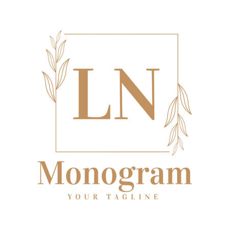 LN Initial A Logo Design with Feminine Style