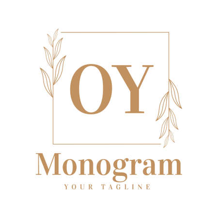 OY Initial A Logo Design with Feminine Style