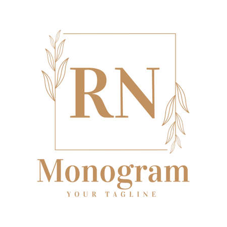 RN Initial A Logo Design with Feminine Style
