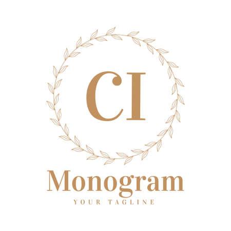 CI Initial A Logo Design with Feminine Style Illusztráció