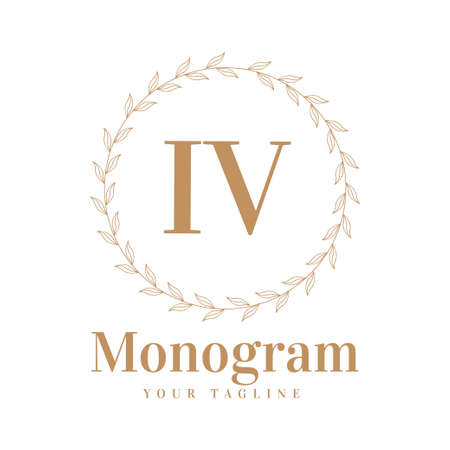 IV Initial A Logo Design with Feminine Style
