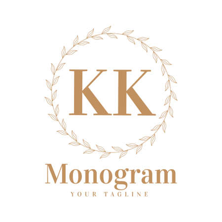 KK Initial A Logo Design with Feminine Style