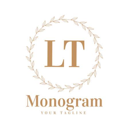 LT Initial A Logo Design with Feminine Style Logó
