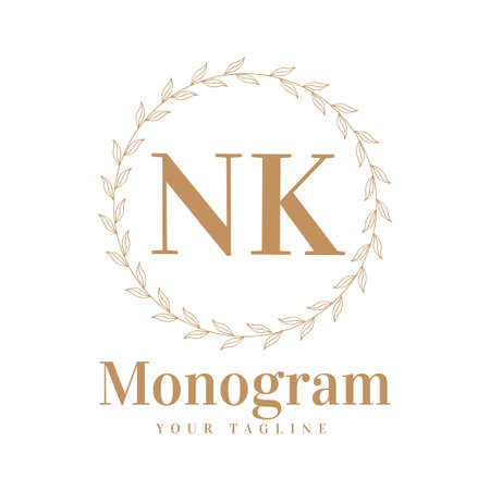 NK Initial A Logo Design with Feminine Style