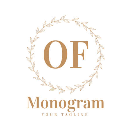 OF Initial A Logo Design with Feminine Style