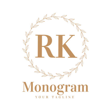 RK Initial A Logo Design with Feminine Style