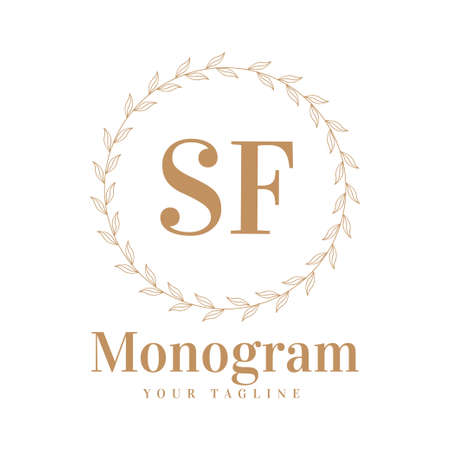 SF Initial A Logo Design with Feminine Style