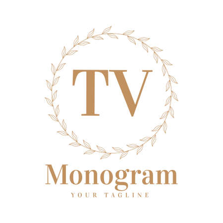 TV Initial A Logo Design with Feminine Style