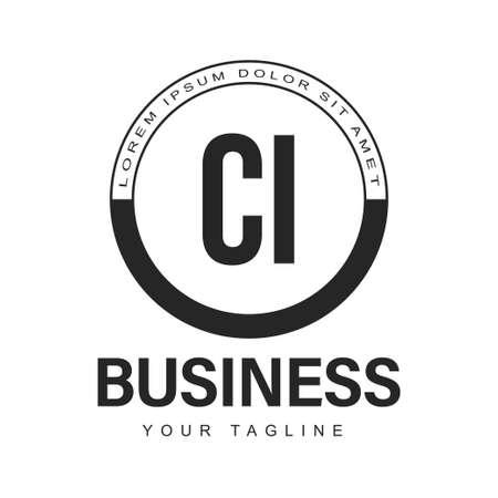 CI Initial A Logo Design with Abstract Style Illusztráció