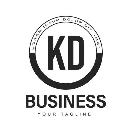 KD Initial A Design with Abstract Style Vektoros illusztráció