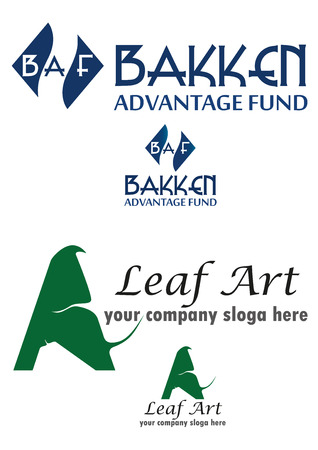 fund: Leaf art and advantage fund logo in one set