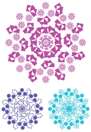 oriental vector: Vector - Oriental pattern and ornaments circular pattern Illustration