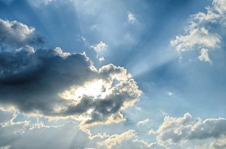 sun light: Sky with cloud and sun light