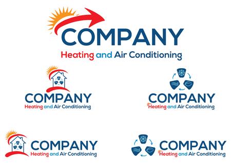 logo ordinateur: Climatisation logo de l'entreprise ou de l'icône, fichier vectoriel facile à modifier.
