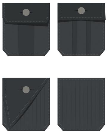 denim jeans: Denim Jeans Pocket illustration