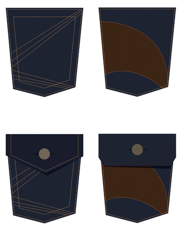 denim jeans: Denim Jeans bolsillo ilustraci�n