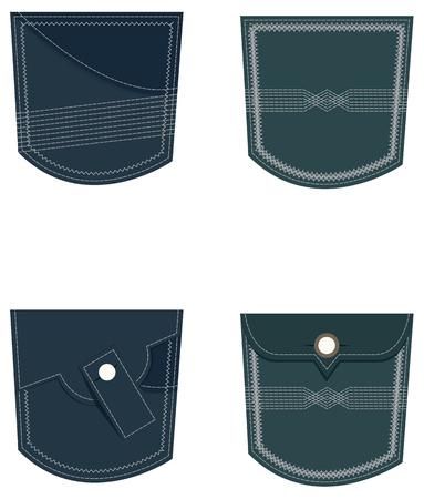 jeans pocket: Denim Jeans Pocket illustration