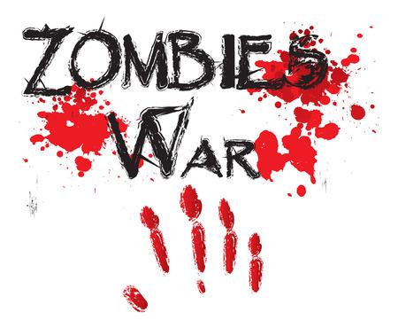 massacre: The word zombee war illustration Illustration