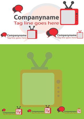 replaceable: Chating tv or television logo for website or your video channel Illustration