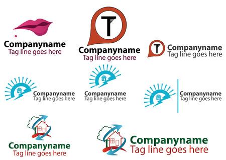 alternateur: Affaires logo set - format EPS disponible.