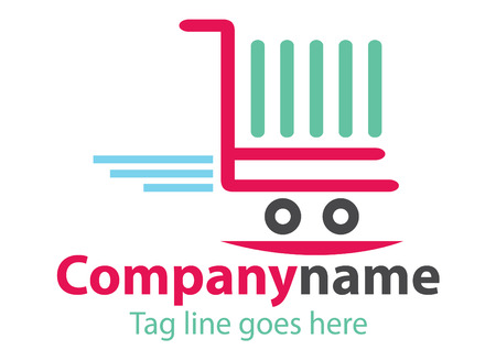 Shopping station Logo Design or Online purchase logo, vector file easy to edit.