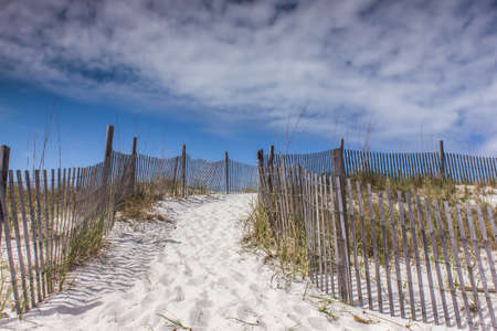 desert footprint: A pathway to the clouds Stock Photo