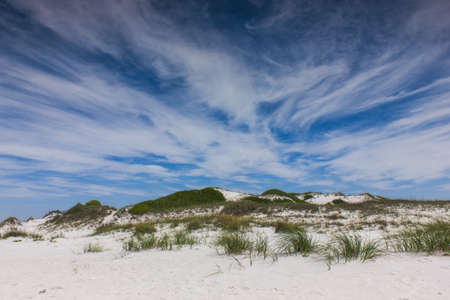 intriguing: An intriguing sky over the dunes Stock Photo