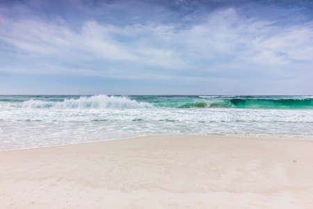 waves crashing: Waves crashing on the beautiful beach Stock Photo