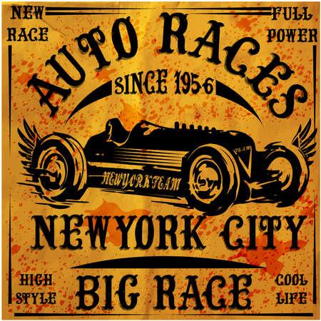 Retro Classic Car Vintage Graphic Design Vector