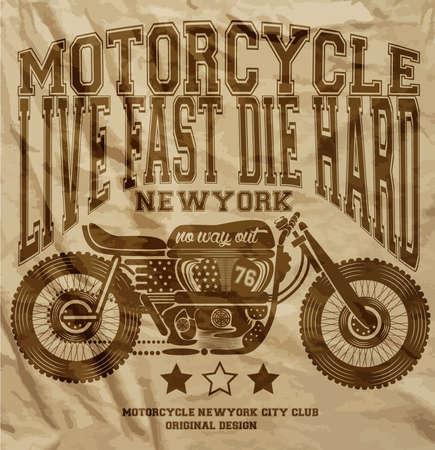 Motorcycle Vintage New York T-shirt Grafisch ontwerp
