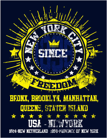 city man: New York City Man College T shirt Graphic Design
