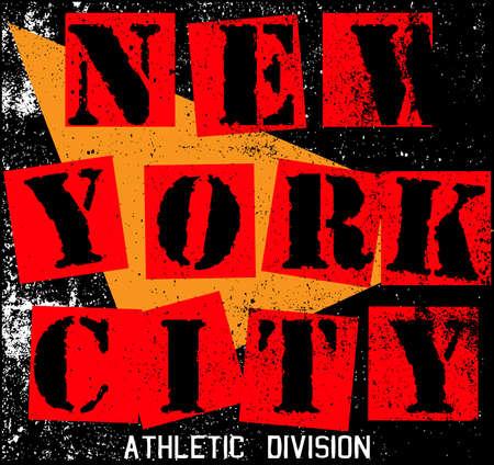 New York City Textuur T-shirt Grafisch ontwerp