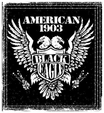 American Eagle Linework Vector Illustration