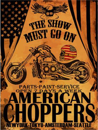 Vintage Motorfiets T-shirt Graphic Stockfoto - 39623516