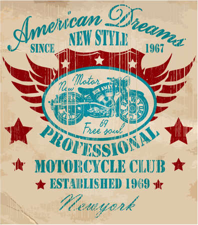 classic style: Vintage Motorcycle T-shirt Graphic