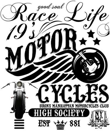 shirts: Vintage Motorcycle T-shirt Graphic