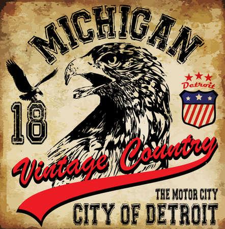 eagle badge: eagle tee graphic