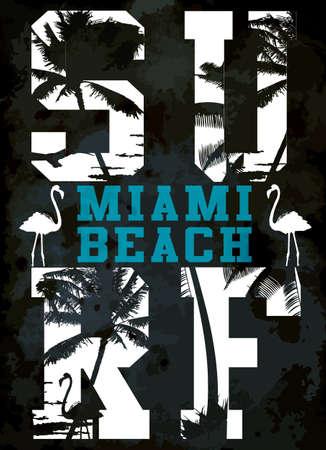 Surf typografie, t-shirt graphics, vectoren Stockfoto - 40162055