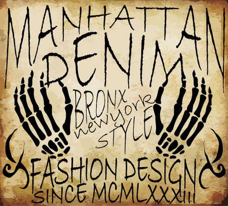 iroquois: Man vintage t shirt graphic design
