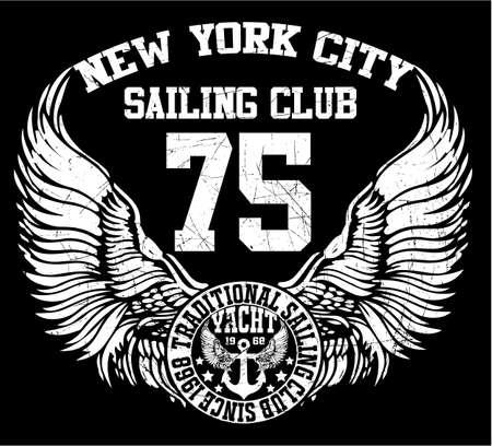 New York city sailing club vector kunst