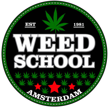 Marihuana stempel op een witte achtergrond
