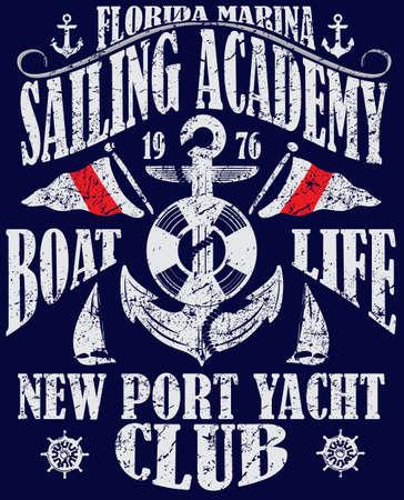 deportes nauticos: Navegando cartel plantilla de dise�o. Resumen de antecedentes con el velero; mar y la puesta del sol.
