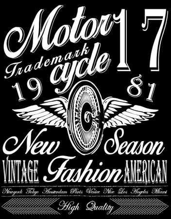 T-shirt graphics, motorfiets bedrijf Stockfoto - 45203295