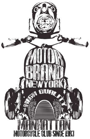 motorcycle: Vintage Motorcycle Graphic Design